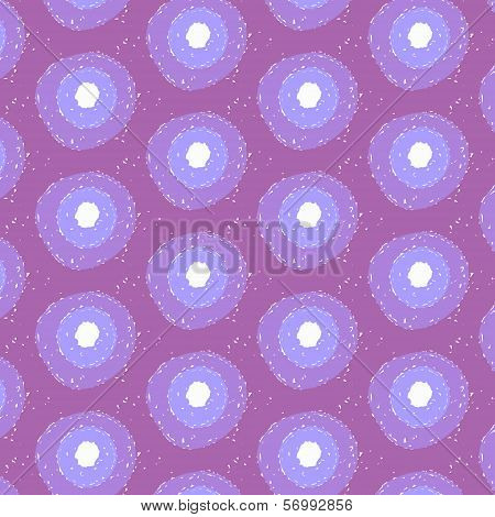 Abstract Flower Background in Shades of Blue and Violet