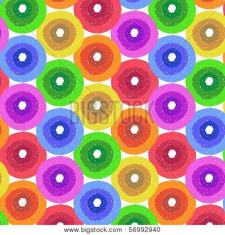 Abstract Flower Background in Shades of Rainbow