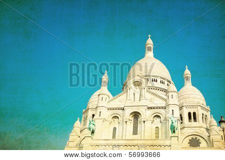The Sacre-Coeur church in Montmartre,paris