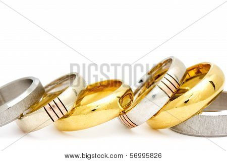 Row Of Various Rings