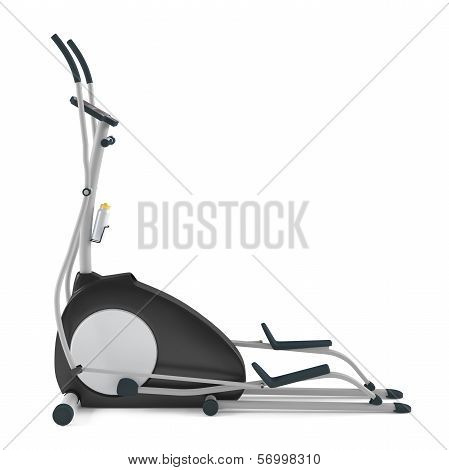 Elliptical cross trainer isolated