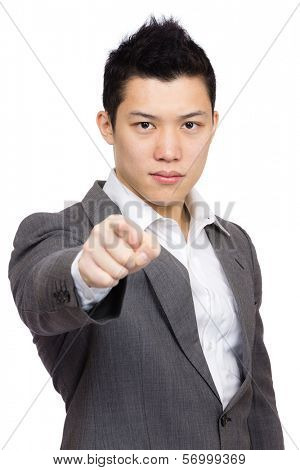 Manager pointing to you