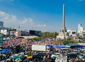 Shutdown Bangkok - Bangkok,thailand-january 13 : Unidentified Protesters Shut Down The City Or The R