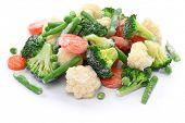 picture of frozen food  - homemade frozen vegetables - JPG