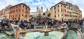 The Spanish Steps, Rome Italy.