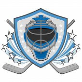 picture of ice hockey goal  - Ice hockey labels - JPG