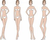foto of knickers  - Vector illustration of woman - JPG