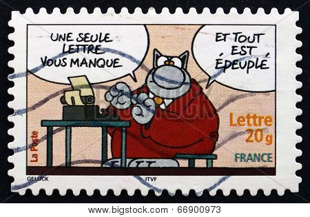 Postage Stamp France 2005 Cat, Comics By Philippe Geluck