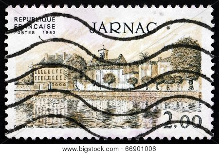 Postage Stamp France 1983 View Of Jarnac, Charente Department