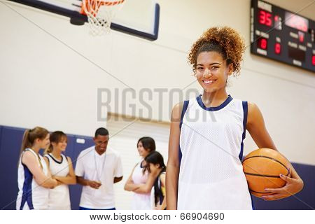 Portrait Of Female High School Basketball Player