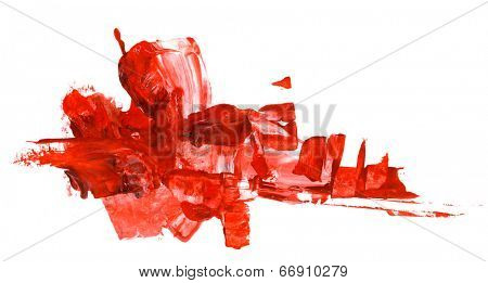 Abstract watercolor design element isolated on white
