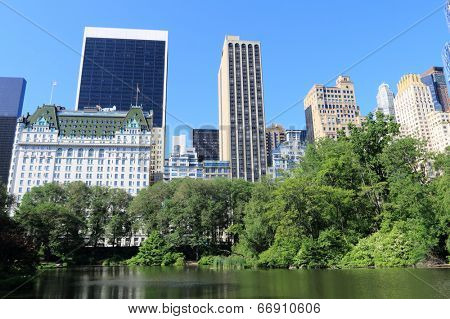 Central Park and Manhattan skyline, New York City