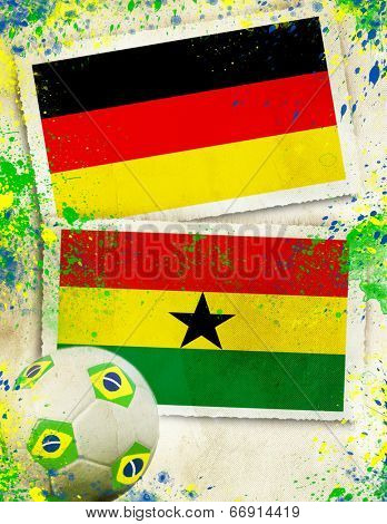 Germany vs Ghana soccer ball concept