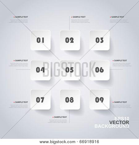 Minimal Infographics or Web Template Design