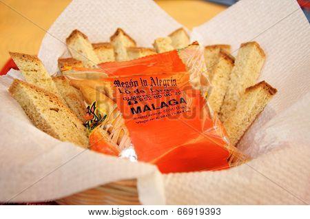 Bread in basket, Spain.
