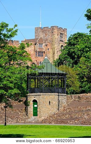 Castle and bandstand, Tamworth.