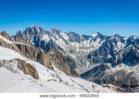 Mont Blanc Massif,in The Chamonix Mont Blanc
