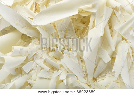 White chocolate curls background