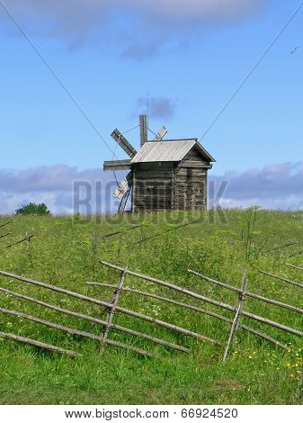 Windmill on Kizhi island
