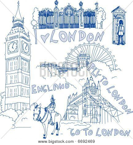London Handdrawn Doodles
