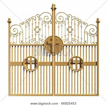Heavens Golden Gates Isolated