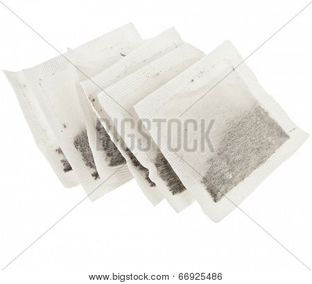 Tea Bags , isolated on white background
