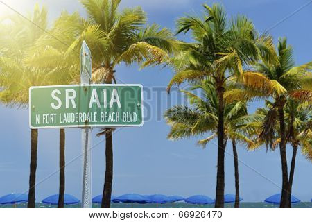 Fort Lauderdale Beach Street Sign
