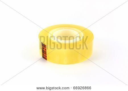 Yellow Scotch Tape Roll.