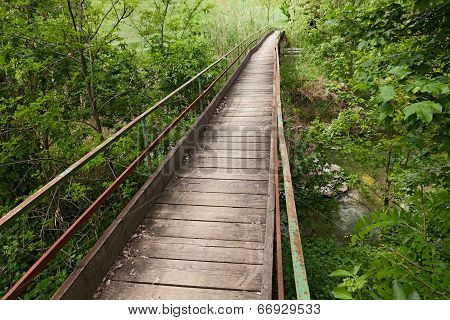 Narrow Wooden Bridge