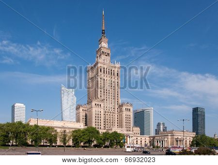 Warsaw City Center With Palace Of Culture, Poland