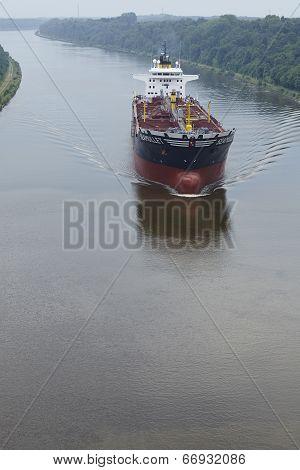 Beldorf - Tank Boat At The Kiel Canal