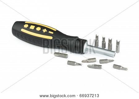 Universal screwdriver with ergonomic handle