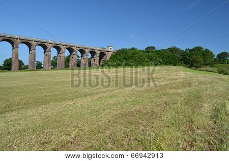 Railway viaduct in England.