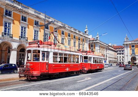 Lisbon, Portugal - May 11: Typical Tramway on May 11, 2014.