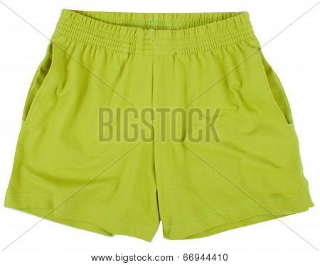 Child Sport shorts. Isolated on white background