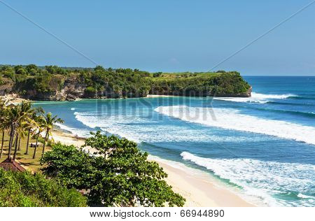 Tropical beach in Bali