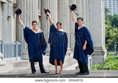 Graduates Hat Toss