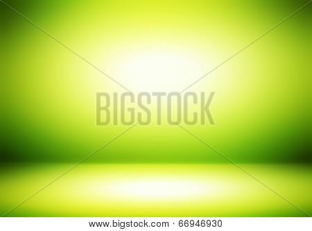 Green Room Abstract Background