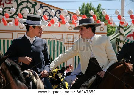 Young Riders At Seville Fair