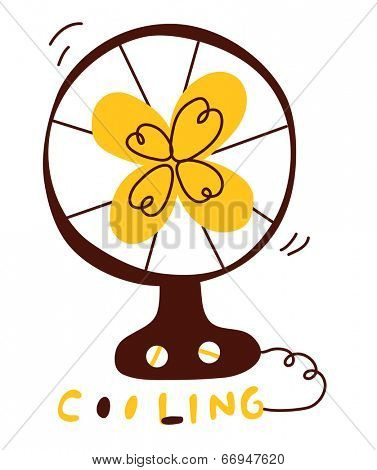 The view of electric fan