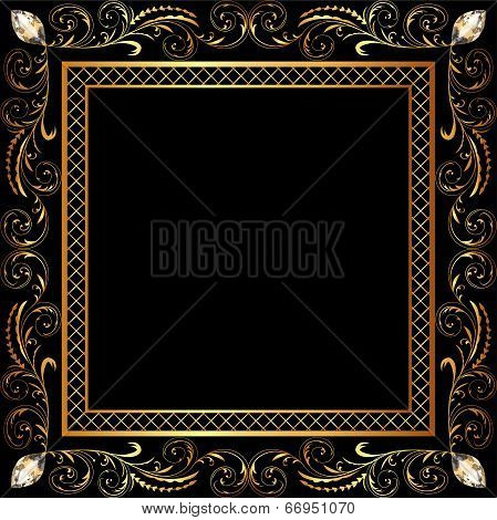Background Frame Ornaments And Precious Stones