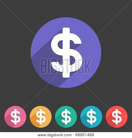 Flat game graphics icon money