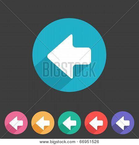 Flat game graphics icon arrow left