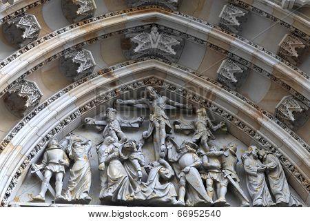 Decoration Of Tympanum St. Vitus Cathedral