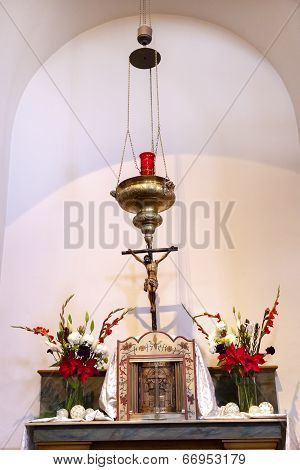 Incense Holder Cross Altar Mission San Luis Obispo De Tolosa California