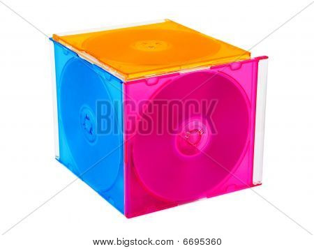 Cube Made Of Computer Disks