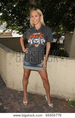 LOS ANGELES - JUN 18:  Mary Carey at the Private LA Football League Summer Kickoff Suite featuring LA Football League T-Shirts at the Private Location on June 18, 2014 in Los Angeles, CA