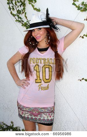 LOS ANGELES - JUN 18:  Phoebe Price at the Private LA Football League Summer Kickoff Suite featuring LA Football League T-Shirts at the Private Location on June 18, 2014 in Los Angeles, CA