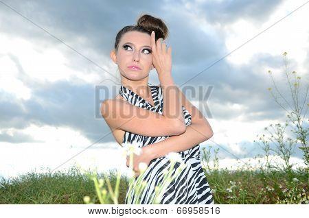Outdoor Portrait Of Girl