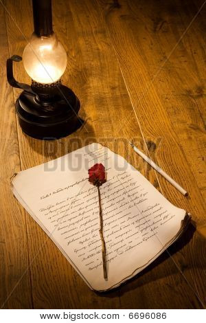 Rose And Manuscript